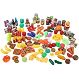 150 Piece Super Market Grocery Play Food Assortment Toy Set for Kids