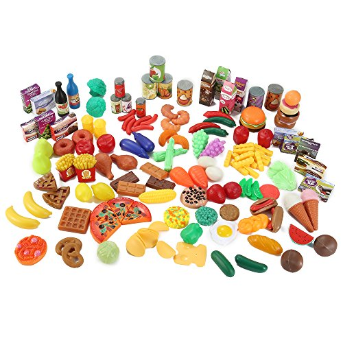 - Liberty Imports 150 Piece Super Market Grocery Play Food Assortment Toy Set for Kids