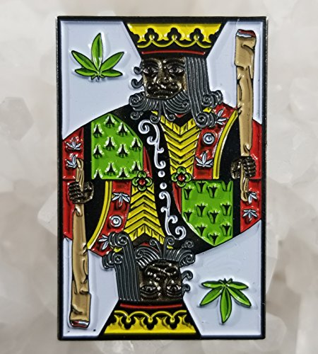 Enamel Card - Marijuana Weed King Playing Card Joint Enamel Hat Pin Limited Edition Festival Pin Grateful Dead Pin Dab Pin Disney Pin