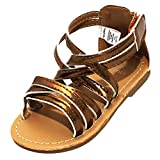 Stepping Stones Little Girls Gladiator Copper Sandals (Girls Strappy Sandals) Size 6 Open Toe Sandals