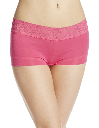 - Maidenform Women's Dream Cotton with Lace Boyshort, Pink About It, 6