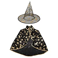 On'h Halloween Witch Cloak Costumes Wizard with Hat Deals