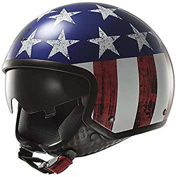Casco Jet LS2 of561 Wave Raw USA America Talla S