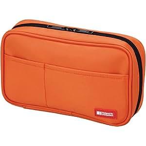 LIHIT LAB Pen Case, 7.9 x 2 x 4.7 inches, Orange (A7551-4)