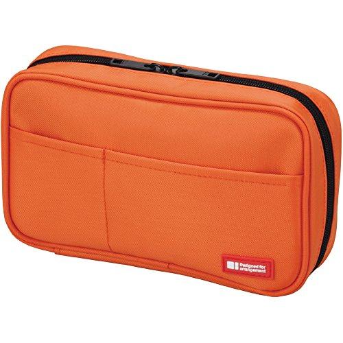 LIHIT LAB Pen Case, 7.9 x 2 x 4.7 inches, Orange