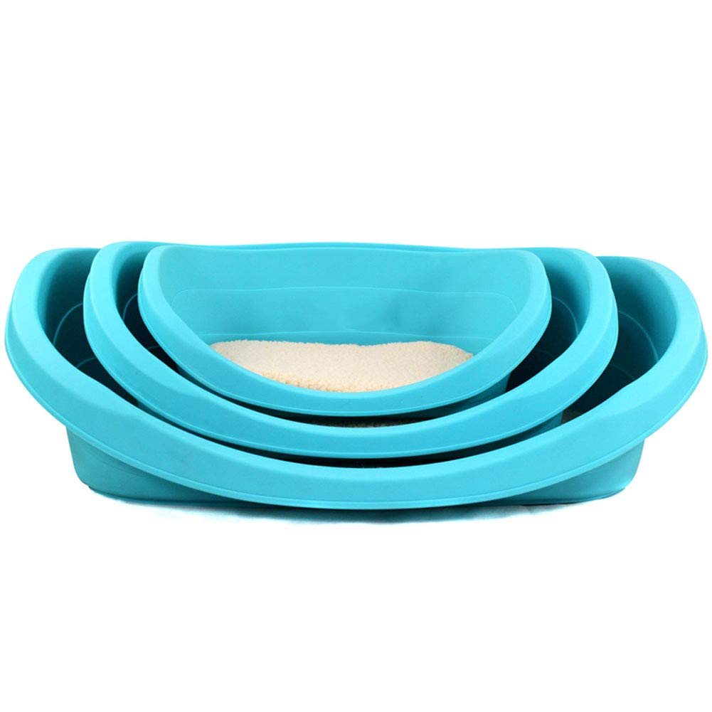 S Pet Carrier Travel Crate Outdoor Mats Transportation Box Kennel Cat Rabbit Sturdy Lightweight Pale bluee for Hamster Squirrel Small Animals,S