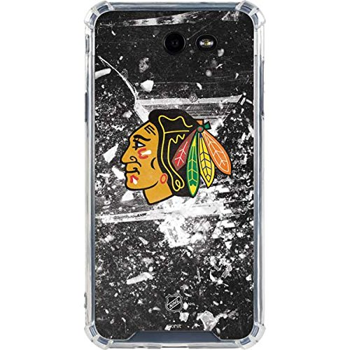Skinit NHL Chicago Blackhawks Galaxy J7 LeNu Case - Chicago Blackhawks Frozen Design - Premium Vinyl Decal Phone Cover