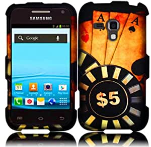 Ace Poker Hard Case Cover for Samsung Galaxy Rush M830 +Pen Stylus