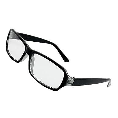9bb1db163a4cf Sourcingmap Noir Plastique Complet Cadre Lunette À Verres Clairs Lunettes  pour Homme Femme - Noir