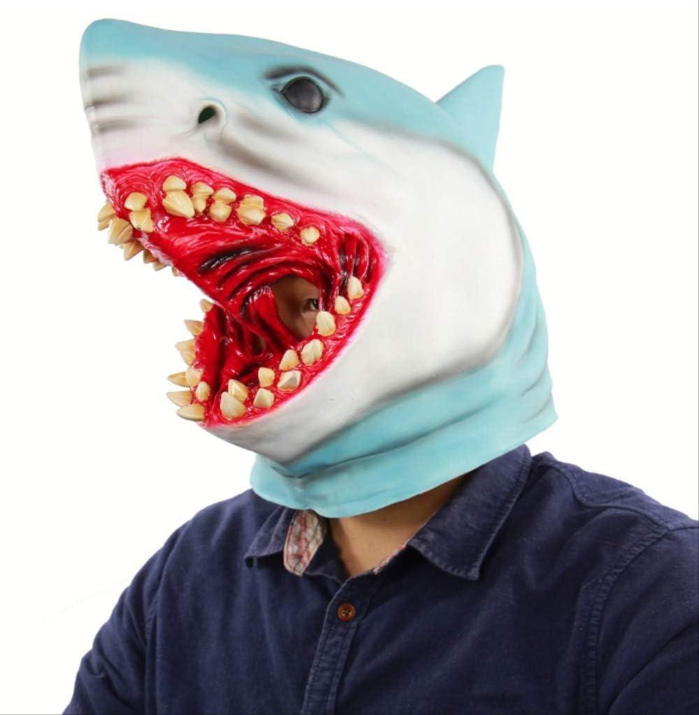tytlmask Máscara De Cabeza Completa De Tiburón, Máscara De Goma De ...