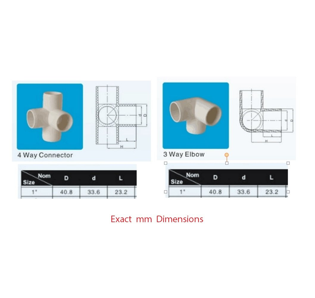3 Way Tee Pvc Fitting Build Heavy Duty Furniture Of 2 Two 4ways With 1 One 3way Switch Located At Each End Grade Sch 40 Elbow Fittings For Inch Size Pipe White 4 Pack Home