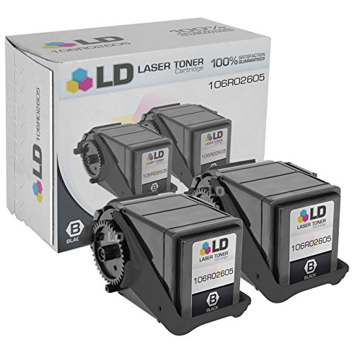 LD © Compatible Replacement for Xerox 106R02605 Set of 2 Black Laser Toner Cartridges for use in Xerox Phaser 7100 Printer