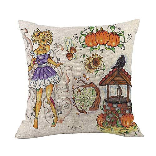 WFeieig_Halloween Soft Cozy Velvet Throw Pillow Solid Square Cushion Cover Black -