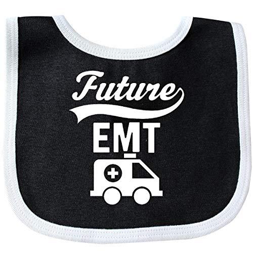 Inktastic - Future EMT Emergency Medical Technician Baby Bib Black/White 31ef3