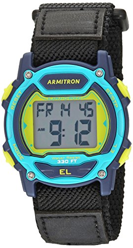 Armitron Sport Unisex 45/7004NVY Digital Chronograph Black Nylon Strap Watch