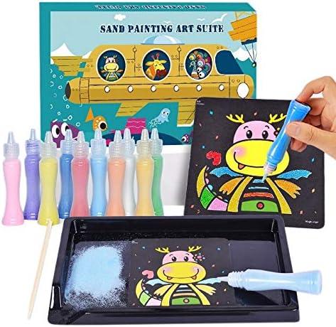 子供の砂絵のおもちゃスーツの色砂ボトル diy 漫画砂絵のおもちゃ子供芸術品や工芸品のおもちゃ子供ギフト