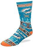 For Bare Feet NFL Miami Dolphins Super Fan Socks (Mens Large 10-13)