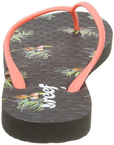Reef Chakras Prints, Sandalias Flip-Flop para Mujer Gris (Grey Tucan)