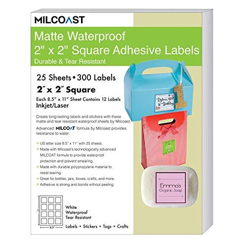 - Milcoast Matte Waterproof Tear Resistant Blank White Adhesive 2