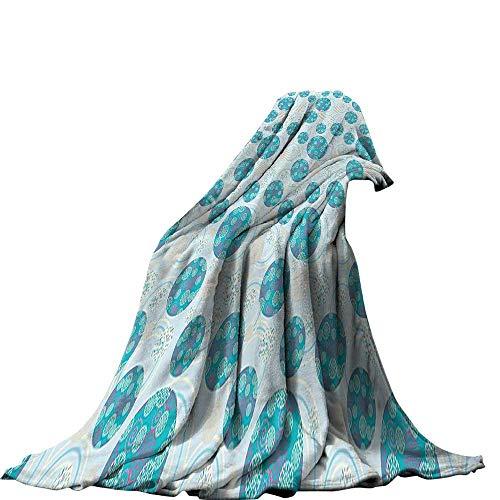 QINYAN-Home manta (50'x30' Fashion cálido acogedor suave sofá cama manta geométrica círculo decoración ornamento bolas...