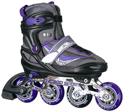 - Chicago Adjustable Purple Inline Skates - Youth Large (Adjusts Size 5-8)