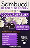 Cheap SAMBUCOL BLACK ELDERBERRY COLD & FLU, 30 TAB (2 Pack)