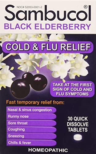 SAMBUCOL BLACK ELDERBERRY COLD & FLU, 30 TAB (2 Pack)