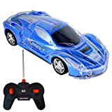 OWIKAR Light Up RC Car for Kids, Wireless Remote Control Racing Car 1:24 Scale Infrared Sensors Toy Car with Spectacular Flashing LED Lights for Children Boys and Toddlers (Blue)