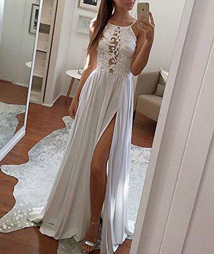 Donna Da Vestiti Sexy Size White Xl Maxi Cocktail Backless Neck Red Lunghi Ploekgda color 0Rq6d4x5R