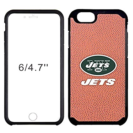 purchase cheap 5572a b235b NFL New York Jets Classic Football Pebble Grain Feel iPhone 6 Case, Brown