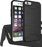 """Black 4.7"""" iPhone 6/6s Hidden Back Wallet Case Slim"""