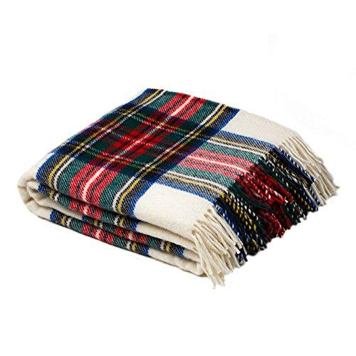 (Birchwood Tweedmill Tartan Throw Blanket, Dress Stewart )