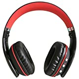 Bluetooth Wireless Headphones, Beexcellent Foldable Noise Cancelling Over-ear Headset with Microphone LED Light for PS4 PSP Laptop Desktop Smartphone