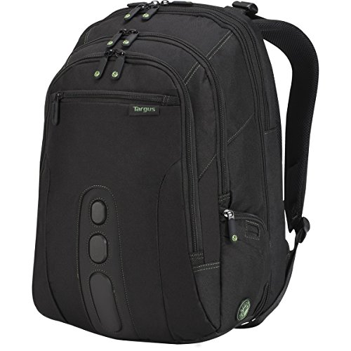 Targus Checkpoint-Friendly Spruce EcoSmart Backpack for Laptops up to 17-Inches, Black/Green Accents (TBB019US) (Checkpoint Luggage)