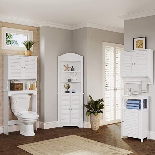 home, kitchen, furniture, accent furniture,  storage cabinets 6 on sale RiverRidge Ellsworth Collection Two-Door Wall Cabinet, White in USA