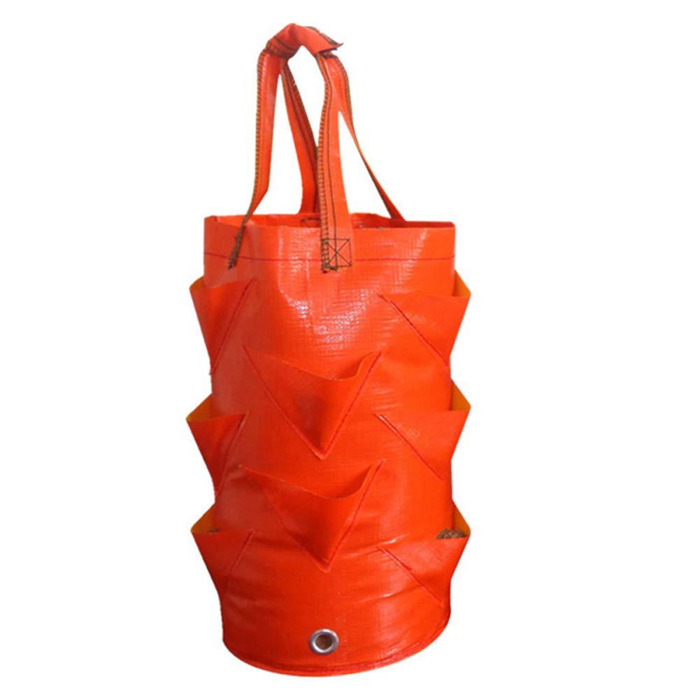 Red 2 Gallon Strawberry Planter Bag for Growing Potato Outdoor ...