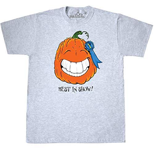 inktastic - Best in Show Smiling Pumpkin T-Shirt Small Ash Grey