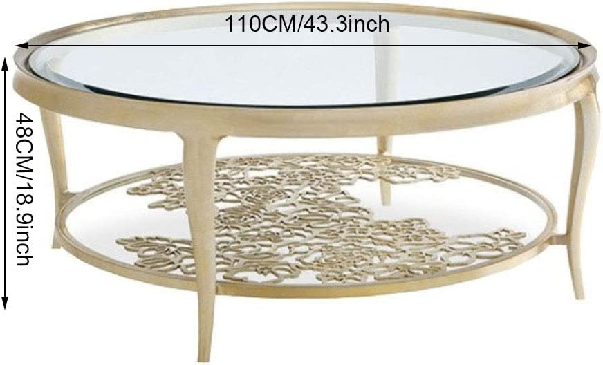 Amazon Com Mdeoh Light Luxury Tempered Glass Coffee Table Round