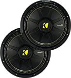 (2) KICKER 44CWCS154 CompC 15' 2400w SVC 4-Ohm Car Audio Subwoofers Subs CWCS154