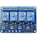 Techleads Optocoupler 4 Channel 5V Relay Module Control for Arduino DSP AVR PIC Arm