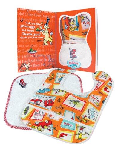 Bumkins Baby Gift Set - Bib/Washcloth - Dr. Seuss Green Eggs