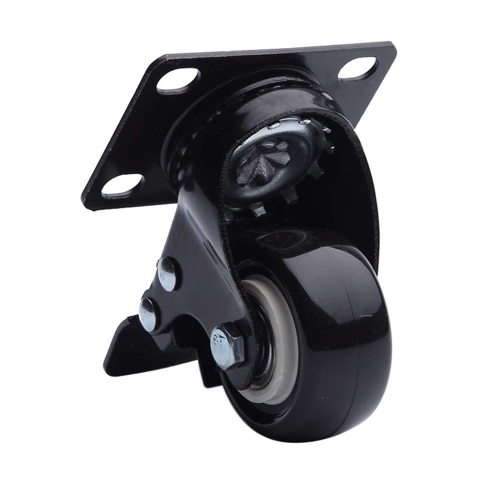 Black Locking Casters VESLA HOME 12 Pack 2 360 Degree Top Plate Heavy Duty 100lb Each Capacity Caster Wheels Polyurethane PU Swivel Casters