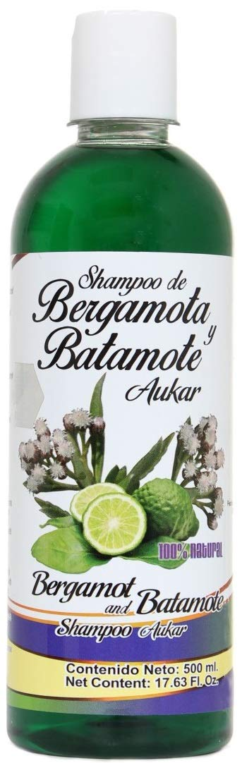 Shampoo de Bergamota y Batamote Aukar, 500 ml / 17.63 Fl Oz. Shampoo of Bergamot and Batamote Aukar, Hair Wroth, Strong Hair with more Shine by Aukar