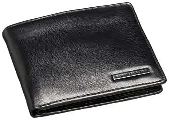 Geoffrey Beene Leather Men's Passcase Billfold Wallet, Black, One Size