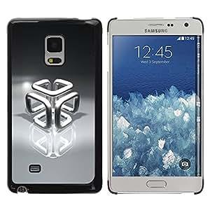 Paccase / SLIM PC / Aliminium Casa Carcasa Funda Case Cover para - Chrome Cube - Samsung Galaxy Mega 5.8 9150 9152