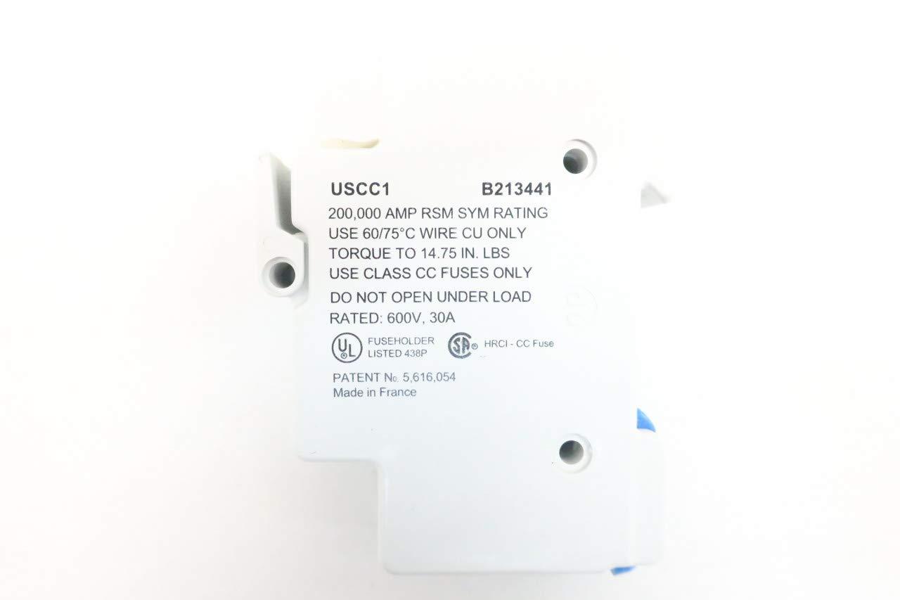 LOT of 5 FERRAZ SHAWMUT USCC1 B213441 Fuse Holder 30A 1P 600V-AC D635535