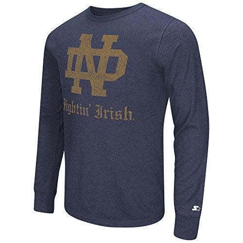 (GIII For Her NCAA Notre Dame Fighting Irish Men's Starter Vault Long Sleeve Tee, XX-Large,)