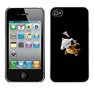 CASER CASES / Apple Iphone 4 / 4S / Marowak P0Kemon / Delgado Negro Plástico caso cubierta Shell Armor Funda Case Cover