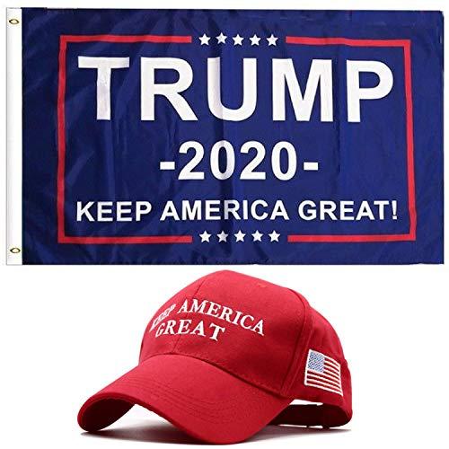 Donald Trump 2020 Flag Keep America Great Hat - 3x5 Feet Dou