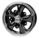 PREMIUM GT-5 WHEEL, Black With Polished Lip, 5.5'' Wide, 5 on 205mm